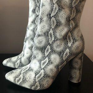 Fashion Nova Snakeskin Boot